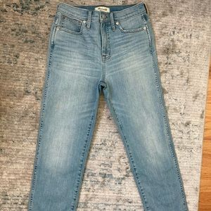 Madewell Stovepipe Jeans Vance Wash Size 26